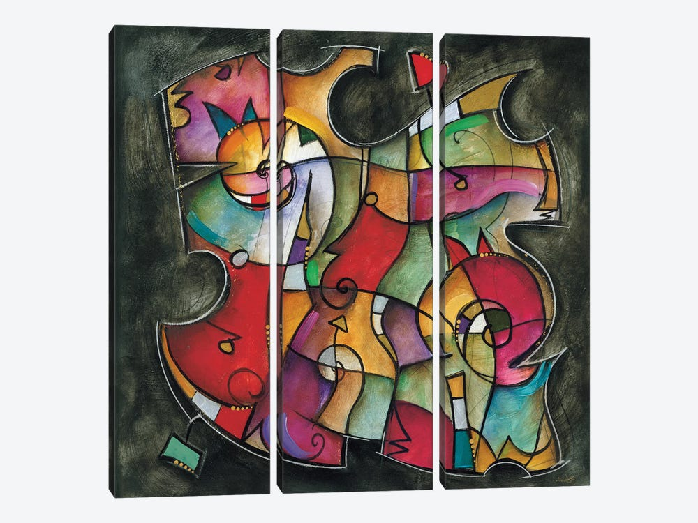 Noir Duet I by Eric Waugh 3-piece Canvas Artwork