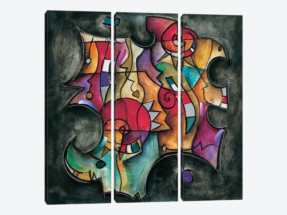 Noir Duet II by Eric Waugh 3-piece Canvas Print