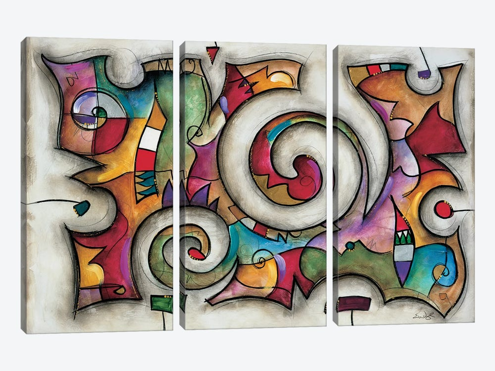 Quadra by Eric Waugh 3-piece Art Print