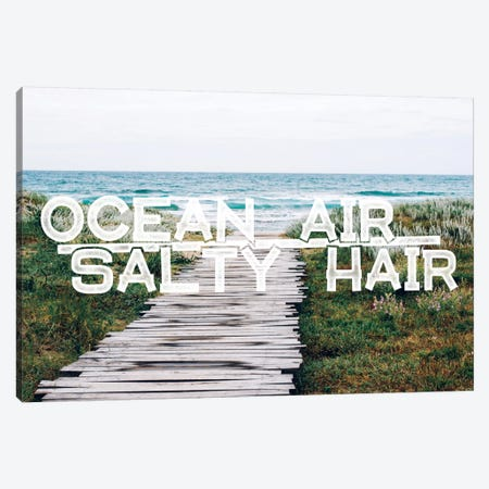 Ocean Air Salty Hair Canvas Print #WAW2} by 5by5collective Canvas Artwork