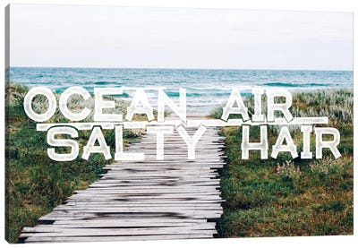 Ocean Air Salty Hair Canvas Art Print