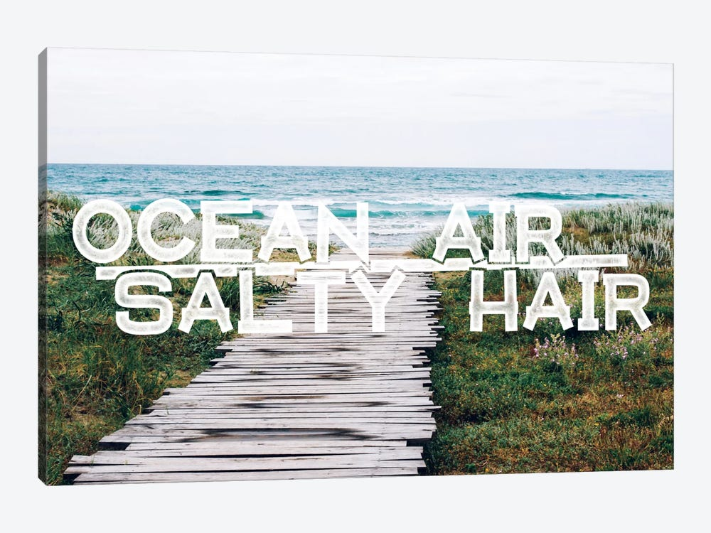 Ocean Air Salty Hair by 5by5collective 1-piece Canvas Art Print