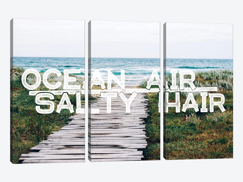 Ocean Air Salty Hair by 5by5collective 3-piece Art Print
