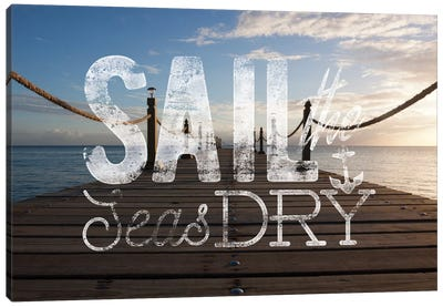 Sail the Seas Dry Canvas Art Print