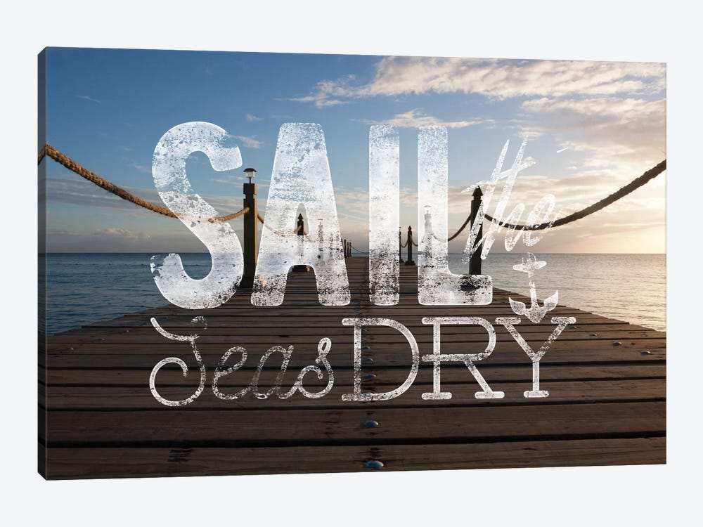 Sail the Seas Dry by 5by5collective 1-piece Canvas Art