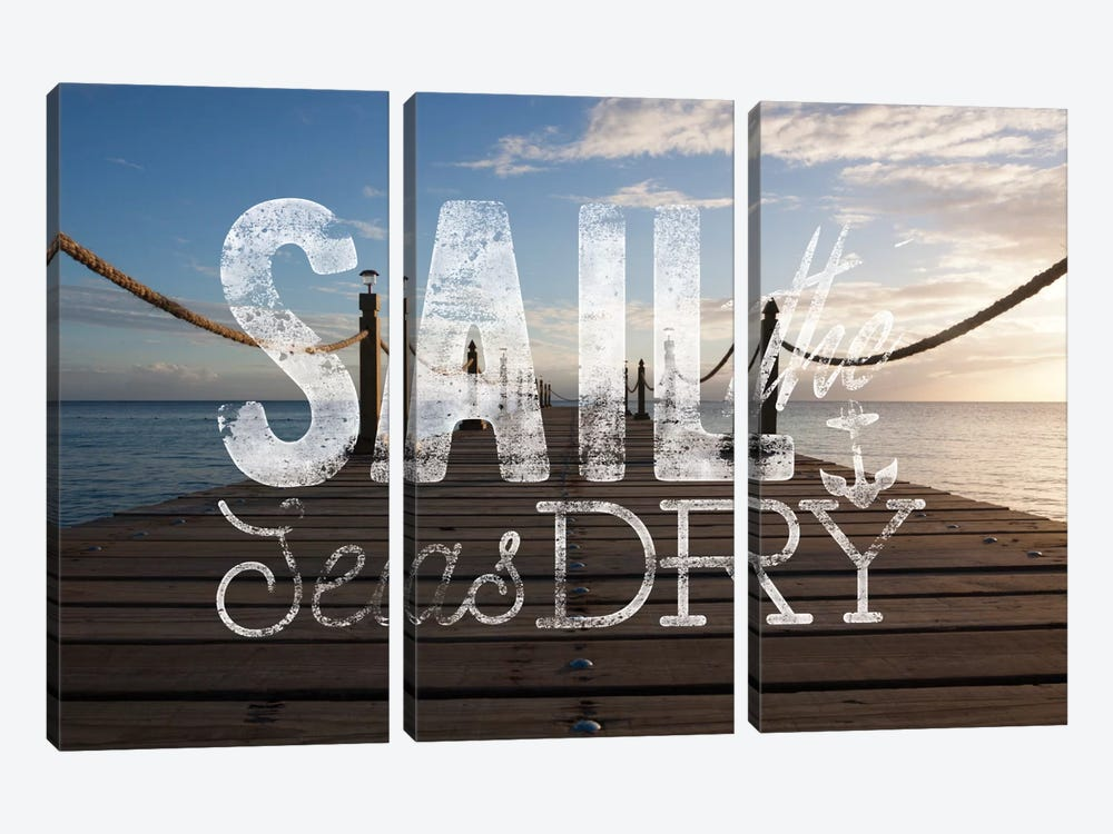 Sail the Seas Dry by 5by5collective 3-piece Canvas Wall Art