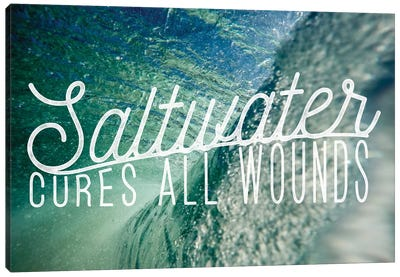 Saltwater Canvas Art Print