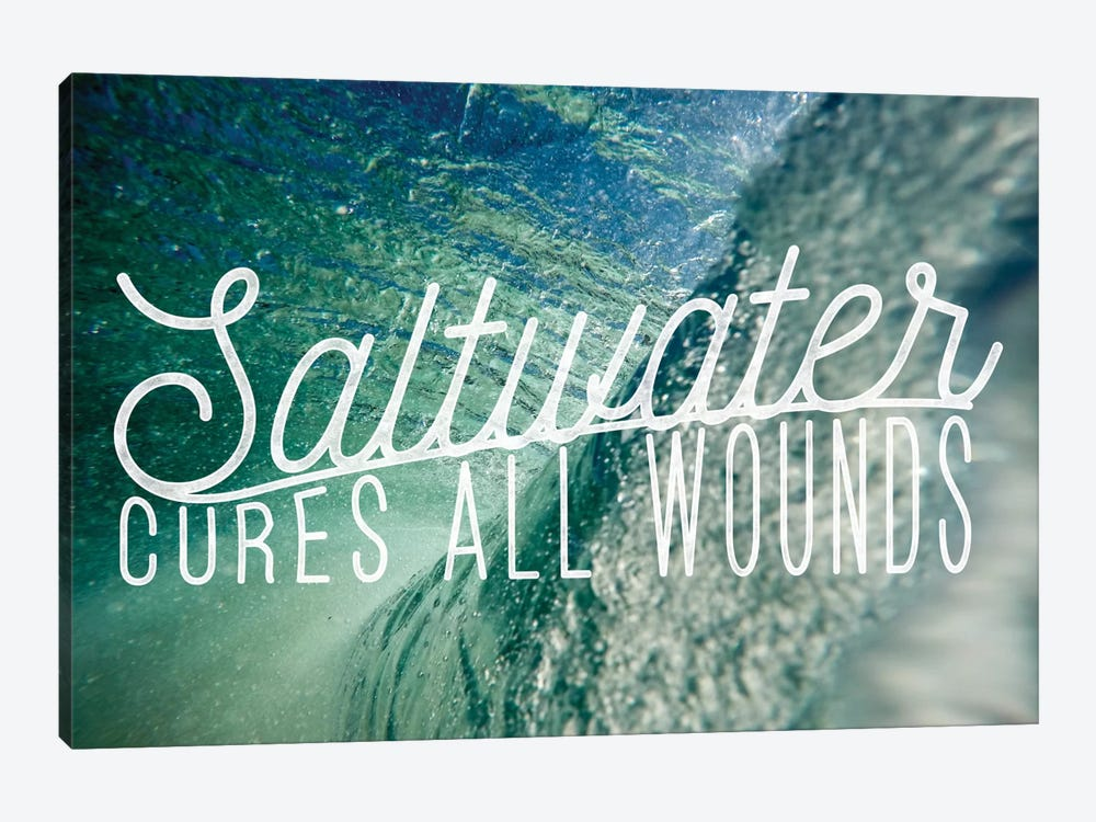 Saltwater by 5by5collective 1-piece Canvas Art
