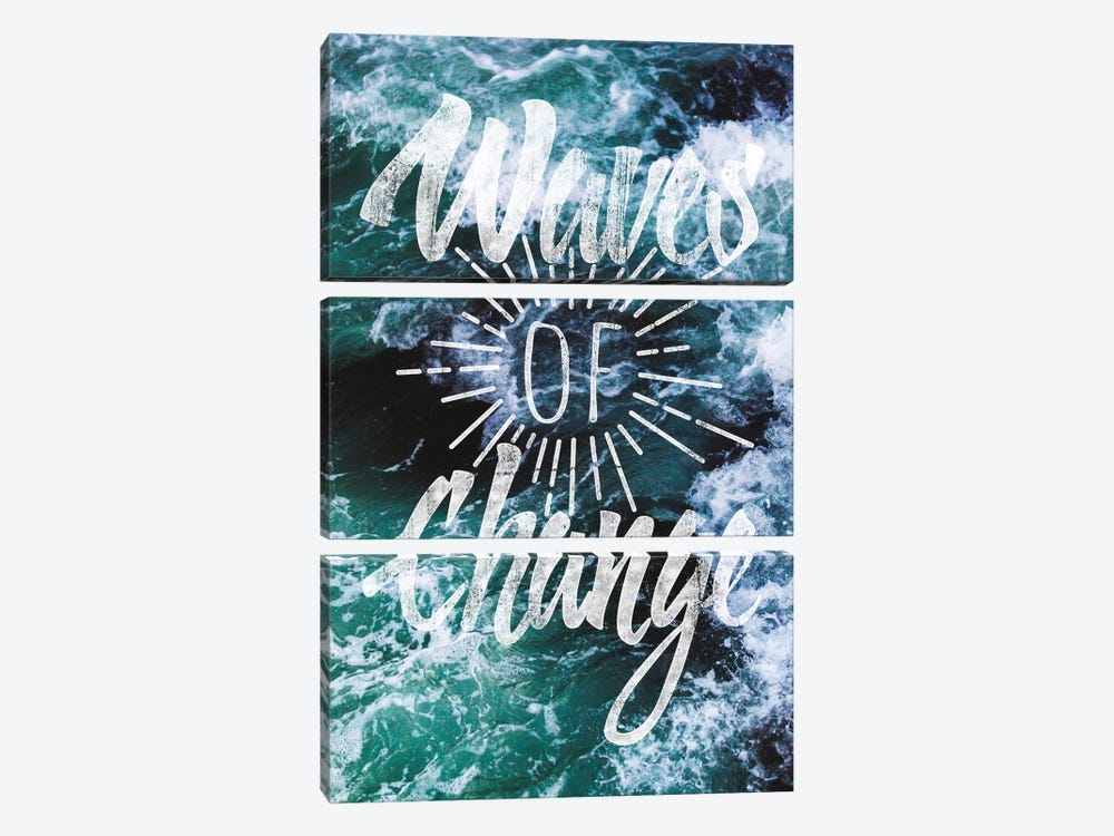 Waves of Change by 5by5collective 3-piece Canvas Wall Art