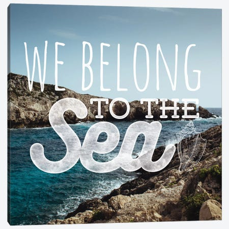 We Belong to the Sea 3-Piece Canvas #WAW8} by 5by5collective Canvas Artwork