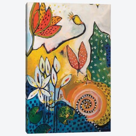 Tropical Pond I Canvas Print #WBC2} by Wendy Bache Canvas Artwork