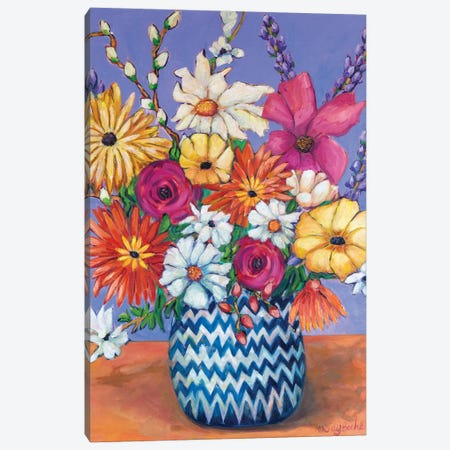 Passionate Bloom Canvas Print #WBC44} by Wendy Bache Canvas Wall Art