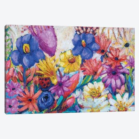 Lady Bug Canvas Print #WBC63} by Wendy Bache Art Print