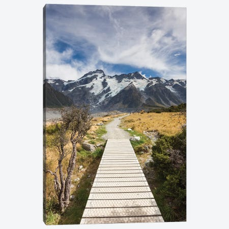 New Zealand, South Island, Canterbury, Trail through Aoraki-Mt. Cook National Park Canvas Print #WBI100} by Walter Bibikow Canvas Print