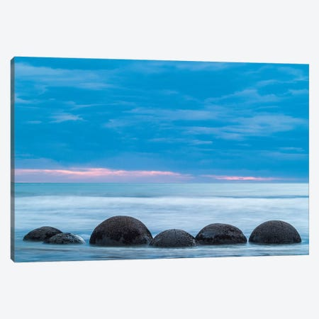 New Zealand, South Island, Otago, Moeraki, Moeraki Boulders, dawn I Canvas Print #WBI101} by Walter Bibikow Art Print
