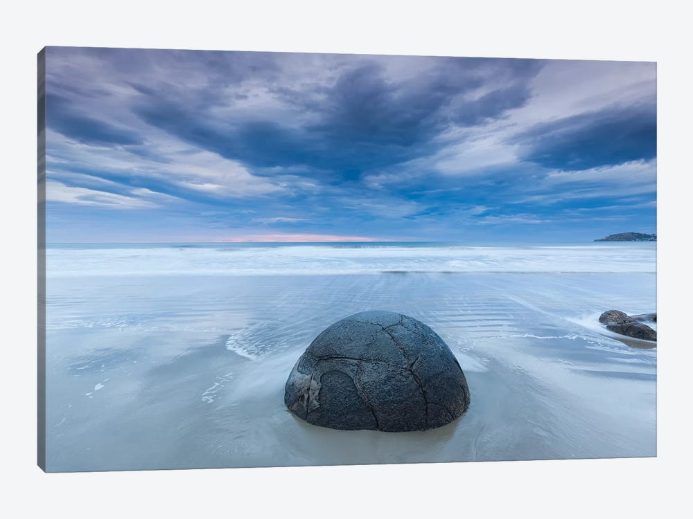 New Zealand, South Island, Otago, Moeraki, Moeraki Boulders, dawn II by Walter Bibikow 1-piece Canvas Wall Art