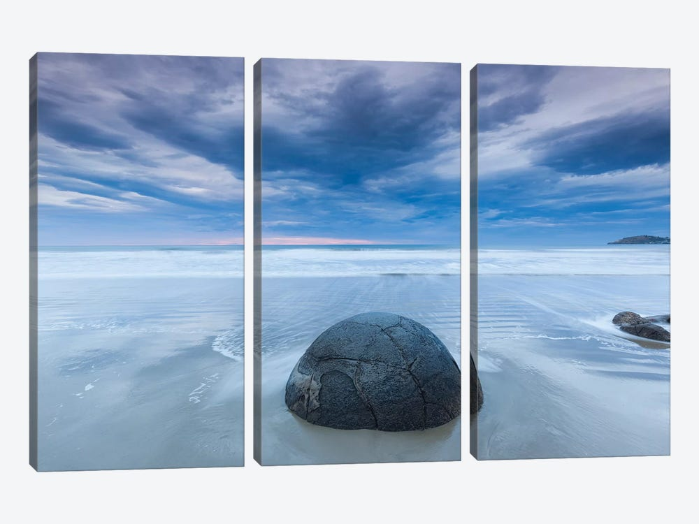 New Zealand, South Island, Otago, Moeraki, Moeraki Boulders, dawn II by Walter Bibikow 3-piece Canvas Artwork