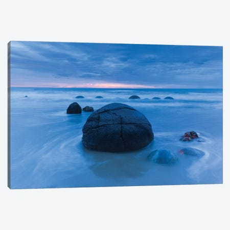 New Zealand, South Island, Otago, Moeraki, Moeraki Boulders, dawn III Canvas Print #WBI103} by Walter Bibikow Canvas Art Print