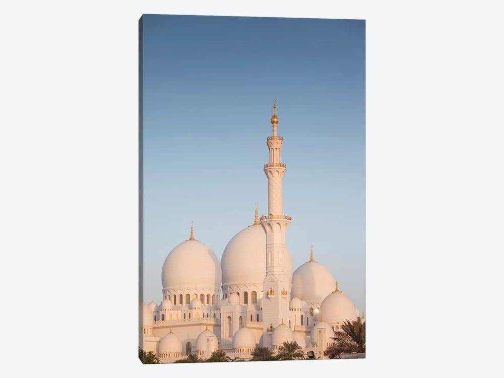 UAE, Abu Dhabi. Sheikh Zayed bin Sultan Mosque I by Walter Bibikow 1-piece Canvas Art Print