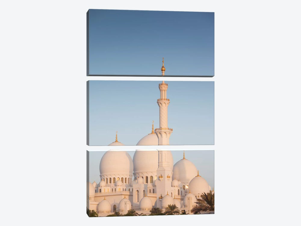 UAE, Abu Dhabi. Sheikh Zayed bin Sultan Mosque I by Walter Bibikow 3-piece Canvas Print