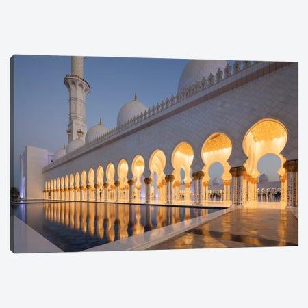 UAE, Abu Dhabi. Sheikh Zayed bin Sultan Mosque II Canvas Print #WBI108} by Walter Bibikow Art Print