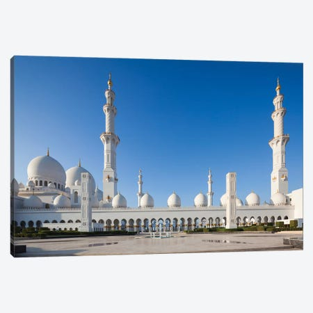 UAE, Abu Dhabi. Sheikh Zayed bin Sultan Mosque III Canvas Print #WBI109} by Walter Bibikow Art Print
