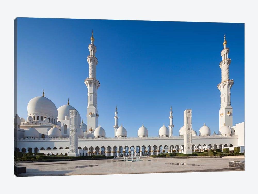 UAE, Abu Dhabi. Sheikh Zayed bin Sultan Mosque III by Walter Bibikow 1-piece Canvas Print