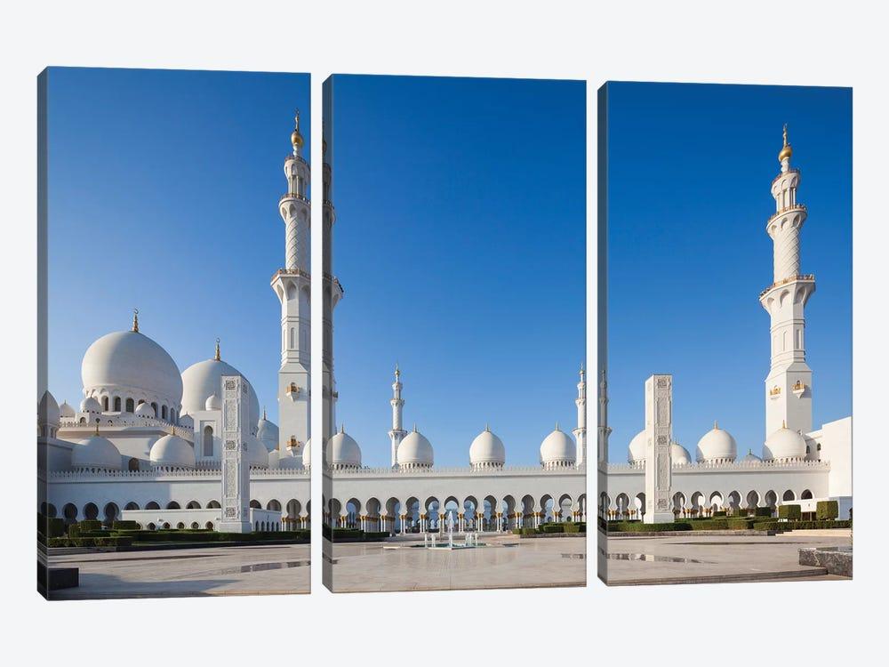 UAE, Abu Dhabi. Sheikh Zayed bin Sultan Mosque III by Walter Bibikow 3-piece Art Print