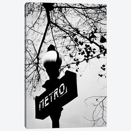 Paris Metro Sign, Paris, Ile-de-France, France Canvas Print #WBI10} by Walter Bibikow Canvas Wall Art