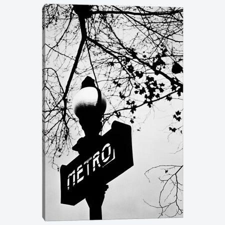 Paris Metro Sign, Paris, Ile-de-France, France Canvas Print #WBI10} by Walter Bibikow Canvas Wall Art