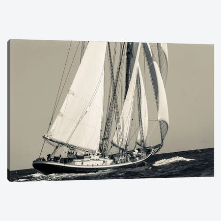 USA, Massachusetts, Cape Ann, Gloucester, schooner sailing ships I Canvas Print #WBI117} by Walter Bibikow Art Print
