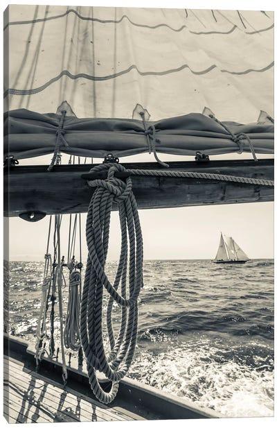 USA, Massachusetts, Cape Ann, Gloucester, schooner sailing ships II Canvas Art Print