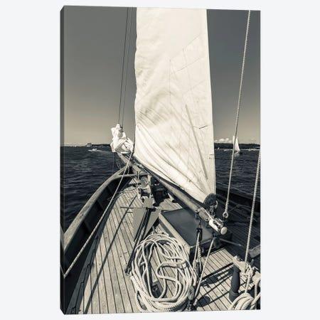 USA, Massachusetts, Cape Ann, Gloucester, schooner sails  Canvas Print #WBI121} by Walter Bibikow Canvas Art Print