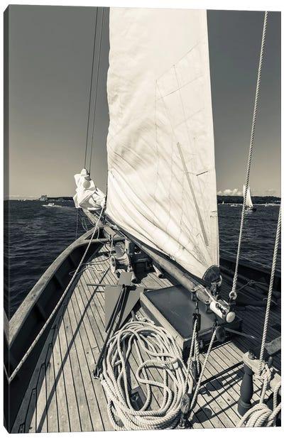 USA, Massachusetts, Cape Ann, Gloucester, schooner sails  Canvas Art Print