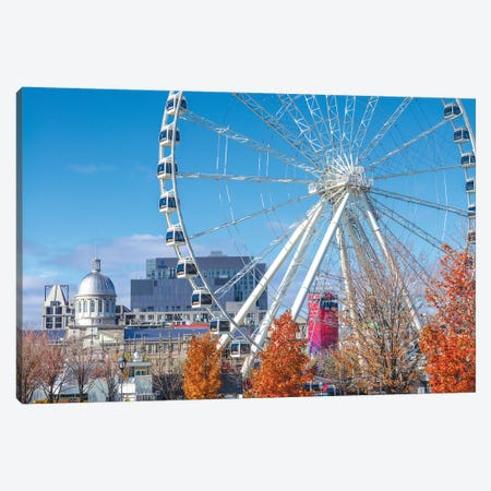 Canada, Quebec, Montreal. The Old Port, The Montreal Observation Wheel Canvas Print #WBI125} by Walter Bibikow Canvas Art