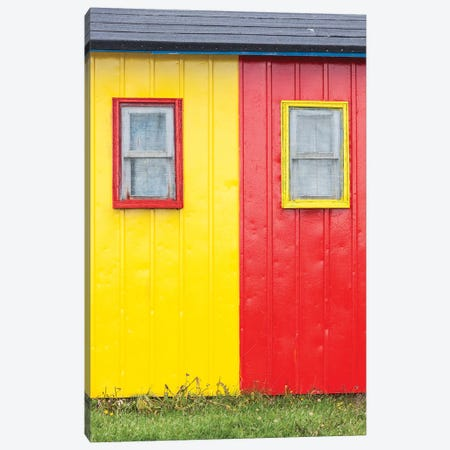 Canada, Quebec, Saint-Ulric, colorful motel detail Canvas Print #WBI127} by Walter Bibikow Canvas Wall Art