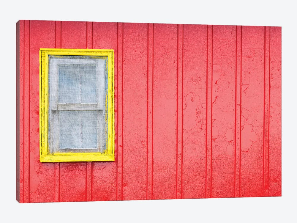 Canada, Quebec, Saint-Ulric, colorful motel detail by Walter Bibikow 1-piece Canvas Wall Art