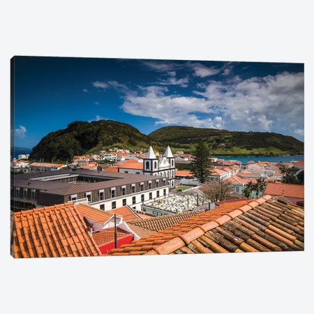 Portugal, Azores, Faial Island, Horta. Igreja de Nossa Senhora das Angustias exterior Canvas Print #WBI131} by Walter Bibikow Canvas Wall Art