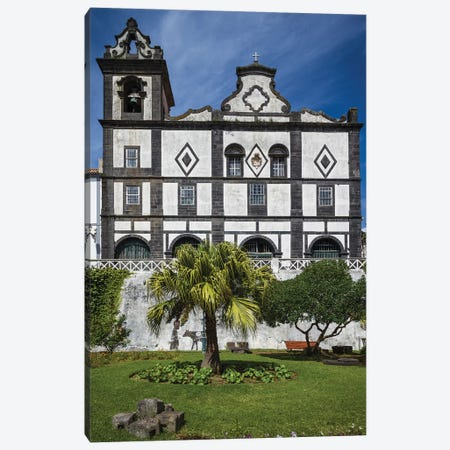 Portugal, Azores, Faial Island, Horta. Igreja de Sao Francisco exterior Canvas Print #WBI132} by Walter Bibikow Canvas Artwork