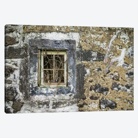 Portugal, Azores, Faial Island, Norte Pequeno. Ruins of building damaged by volcanic eruption Canvas Print #WBI133} by Walter Bibikow Canvas Art
