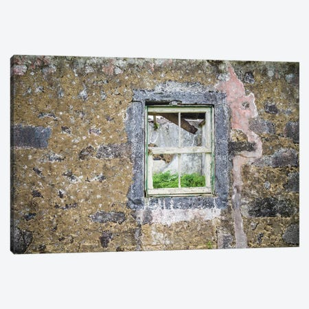 Portugal, Azores, Faial Island, Norte Pequeno. Ruins of building damaged by volcanic eruption Canvas Print #WBI134} by Walter Bibikow Canvas Print