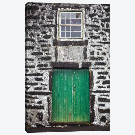Portugal, Azores, Pico Island, Porto Cachorro. Old fishing community set in volcanic rock buildings Canvas Print #WBI140} by Walter Bibikow Canvas Art Print