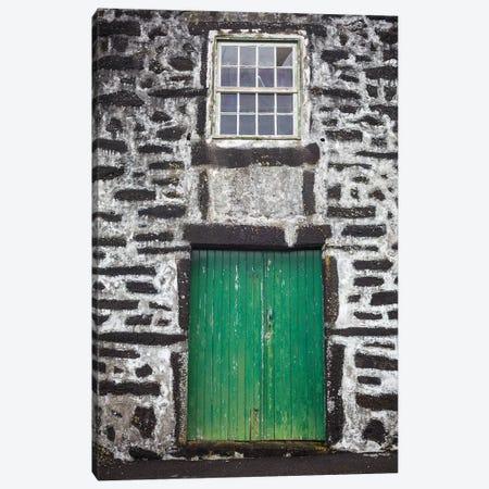 Portugal, Azores, Pico Island, Porto Cachorro. Old fishing community set in volcanic rock buildings Canvas Print #WBI140} by Walter Bibikow Canvas Art Print
