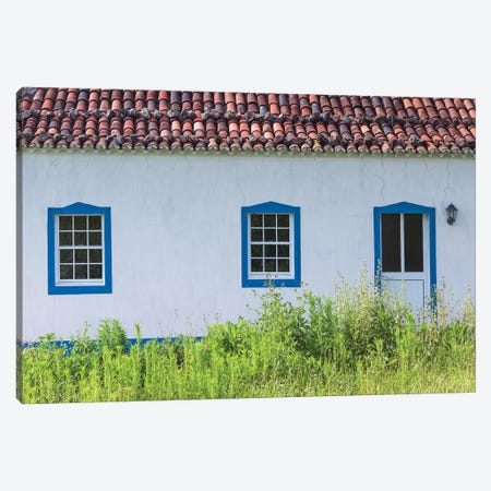 Portugal, Azores, Santa Maria Island, Norte. Farmhouse Canvas Print #WBI148} by Walter Bibikow Art Print