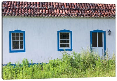 Portugal, Azores, Santa Maria Island, Norte. Farmhouse Canvas Art Print