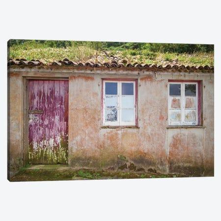 Portugal, Azores, Sao Miguel Island, Porto Formoso fishing shacks Canvas Print #WBI155} by Walter Bibikow Art Print