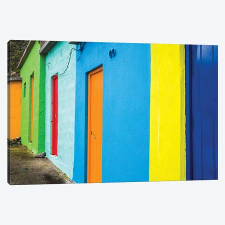 Portugal, Azores, Sao Miguel Island, Porto Formoso fishing shacks Canvas Print #WBI156} by Walter Bibikow Canvas Art Print