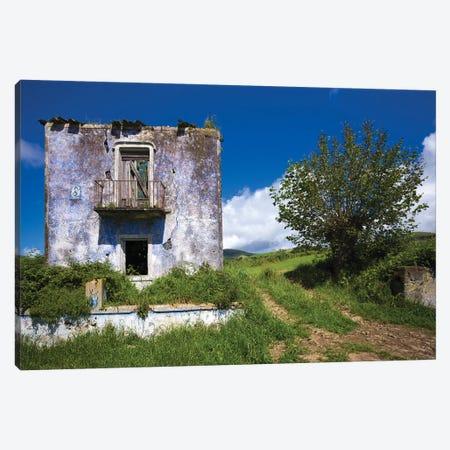 Portugal, Azores, Sao Miguel Island, Vila Franco do Campo. Ruins of old farmhouse Canvas Print #WBI158} by Walter Bibikow Canvas Artwork