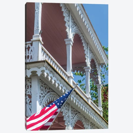 USA, New Jersey, Cape May. Victorian house detail. Canvas Print #WBI161} by Walter Bibikow Art Print