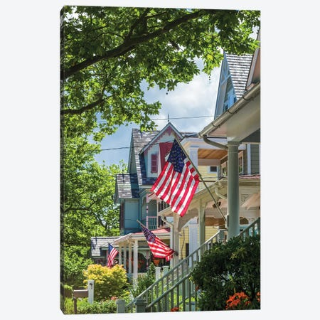 USA, New Jersey, Cape May. Victorian house detail. Canvas Print #WBI162} by Walter Bibikow Art Print